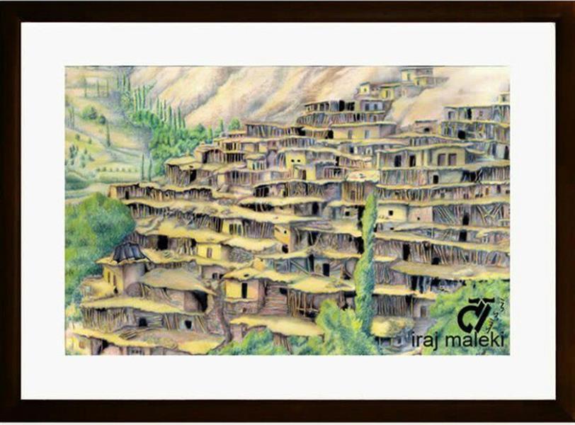 هنر نقاشی و گرافیک محفل نقاشی و گرافیک ایرج ملکی بدون_عنوان ( #مدادرنگی ) ۵۵ ×  ۴۵