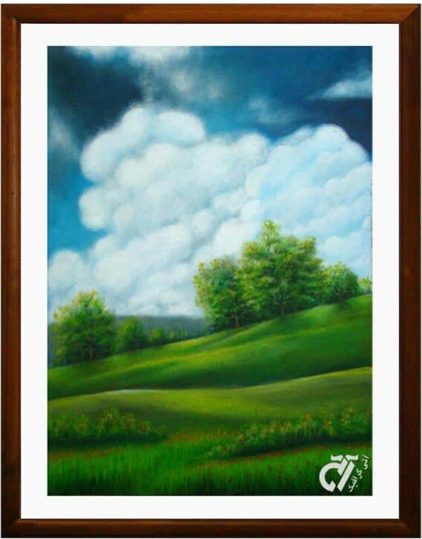 هنر نقاشی و گرافیک محفل نقاشی و گرافیک ایرج ملکی #بدون_عنوان ( #آکرلیک ) - ۵۰ × ۷۰