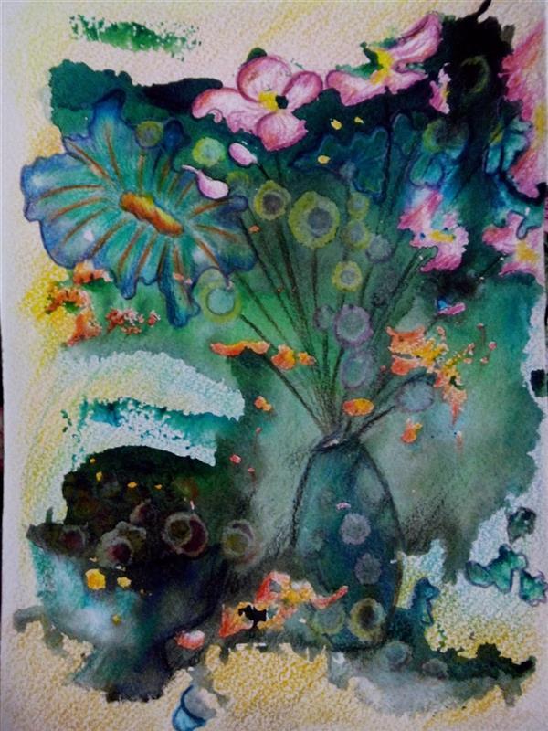 هنر نقاشی و گرافیک محفل نقاشی و گرافیک سمانه رمضانی سمانه رمضانی   مونوپرینت (آب مرکب ومداد رنگی)      13.18 سانتیمتر