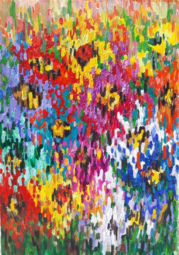 هنر نقاشی و گرافیک محفل نقاشی و گرافیک سمانه رمضانی #سمانه_رمضانی #اکریلیک#مقوا سال خلق اثر۹۸