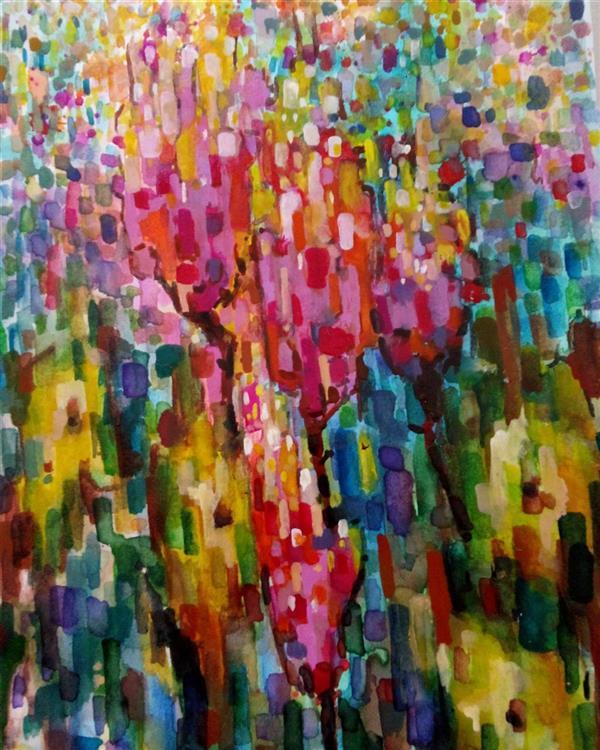 هنر نقاشی و گرافیک محفل نقاشی و گرافیک سمانه رمضانی آبرنگ        13.18cm