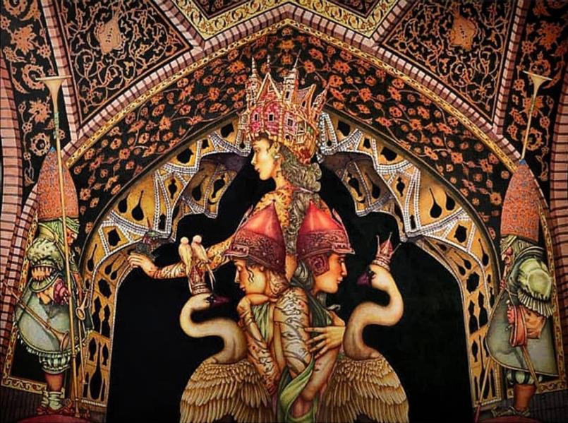 هنر نقاشی و گرافیک محفل نقاشی و گرافیک 100honar هنرمند: علیرضا چمک / ترکیب مواد روی بوم / 1397 #فروخته_شد