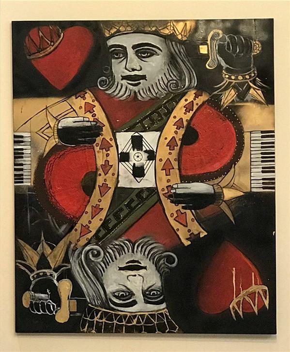 هنر نقاشی و گرافیک محفل نقاشی و گرافیک Milad Paras Name = King Of Heart Dimensions = 100*120 cm Materials = Oilcolor+Acrylic