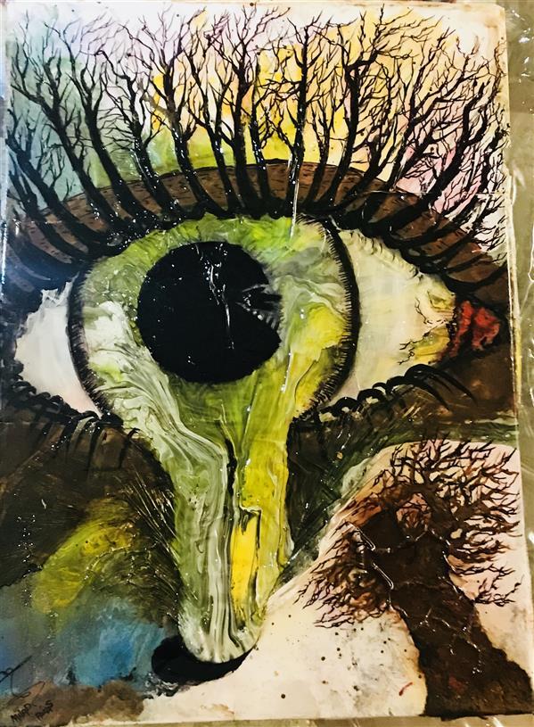 هنر نقاشی و گرافیک محفل نقاشی و گرافیک Milad Paras SOLD Name : natural's Cry Material =oilcolor Dimensions = 50*70 cm.