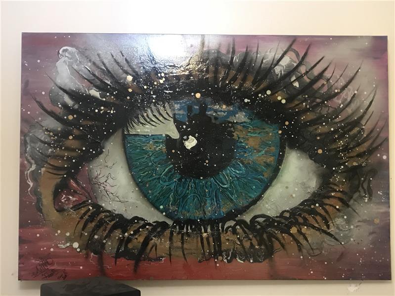 هنر نقاشی و گرافیک محفل نقاشی و گرافیک Milad Paras (1)Eyes on you cm100*150 Oilcolor+