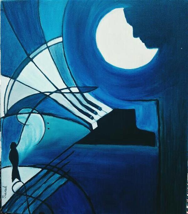 هنر نقاشی و گرافیک محفل نقاشی و گرافیک سارا جباری نام اثر: سونات مهتاب تکنیک: رنگ روغن متریال: بوم ابعاد: ۶۰*۷۰ سبک: مدرنیسم  #نقاشی #موسیقی #مدرنیسم