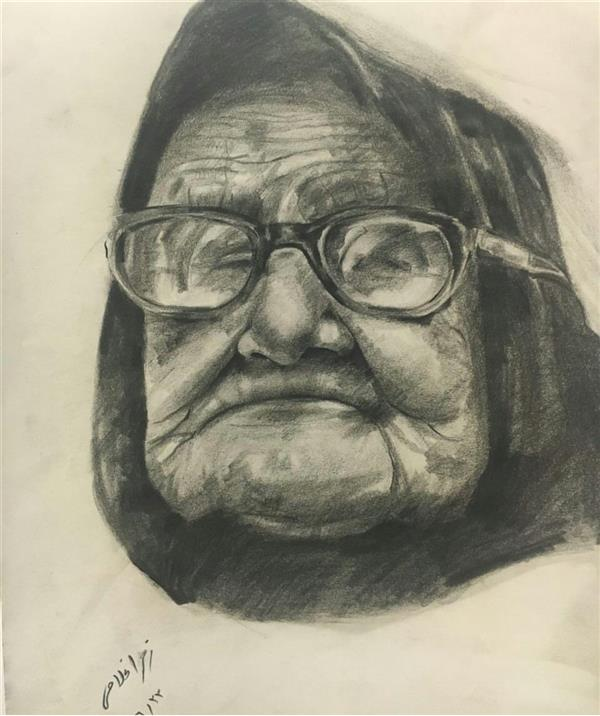 هنر نقاشی و گرافیک محفل نقاشی و گرافیک زهرا غلامی #طراحی_چهره با #اتود_طراحی