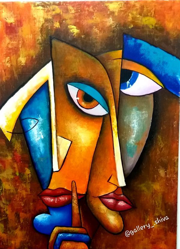هنر نقاشی و گرافیک محفل نقاشی و گرافیک شیوا عوض زاده تکنیک:اکرلیک سبک:کوبیسم ابعاد:۵۰×۷۰