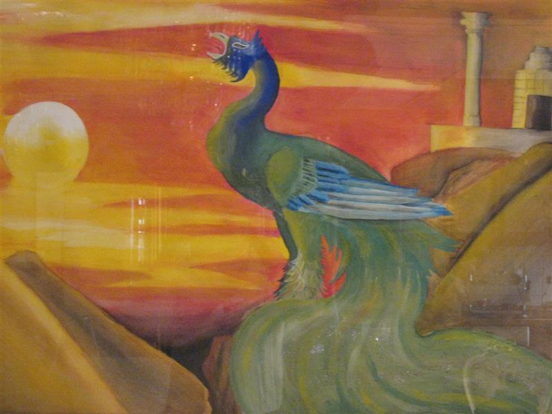 هنر نقاشی و گرافیک محفل نقاشی و گرافیک علیرضا جلا سیمرغ 100 در 70 #نقاشی#تصویرسازی#آبرنگ#گواش