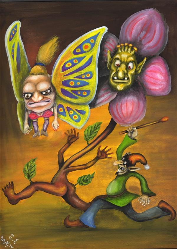 هنر نقاشی و گرافیک محفل نقاشی و گرافیک علیرضا جلا khengol.shaskol.habe angor  ابعاد  A3 #آبرنگ #گواش #تصویرسازی