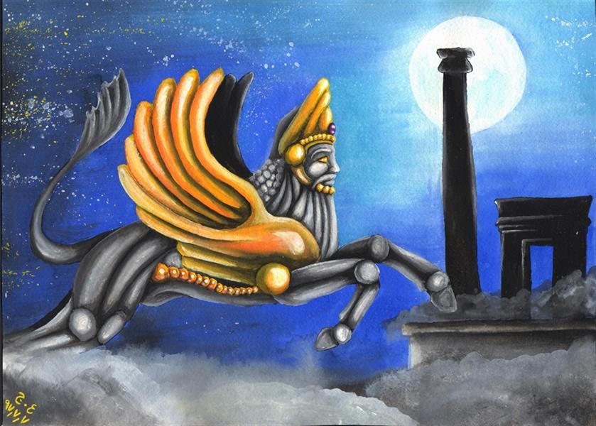 هنر نقاشی و گرافیک محفل نقاشی و گرافیک علیرضا جلا 1397.7.7 The Myth A3 #تصویرسازی#اسطوره#آبرنگ#گواش#صحنه سازی#نقاشی