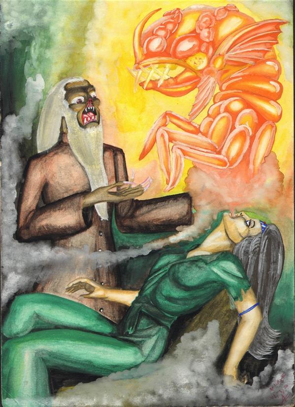 هنر نقاشی و گرافیک محفل نقاشی و گرافیک علیرضا جلا 1374.06.5 Convert کمی بزرگتر از A4 #تصویرسازی#نقاشی#آبرنگ#گواش#تجسم