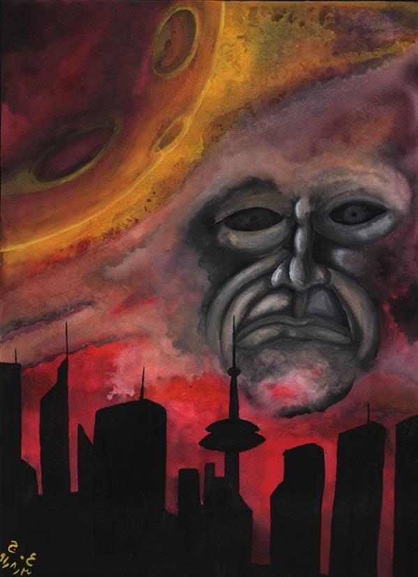 هنر نقاشی و گرافیک محفل نقاشی و گرافیک علیرضا جلا X Planet ابعاد A3 1391.08.03 #تصویرسازی #آبرنگ #گواش #تجسمی
