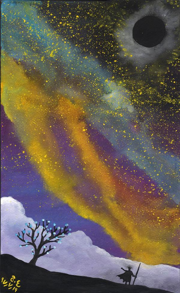 هنر نقاشی و گرافیک محفل نقاشی و گرافیک علیرضا جلا 1397.7.19 Universe #تصویرسازی#صحنه سازی#نقاشی#گواش#آبرنگ بزرگتر از A4