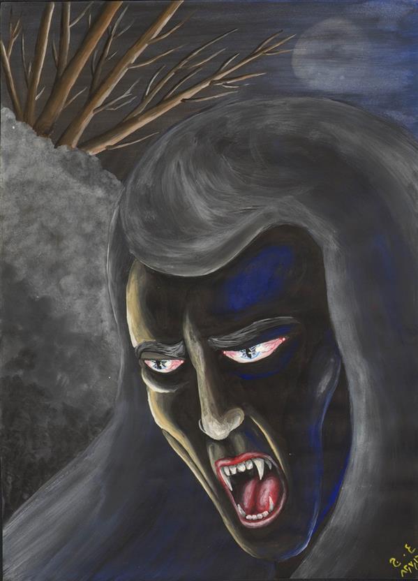 هنر نقاشی و گرافیک محفل نقاشی و گرافیک علیرضا جلا 1382.07.16 Vampire A3 #تصویرسازی#آبرنگ#گواش#نقاشی#نقاش#صحنه