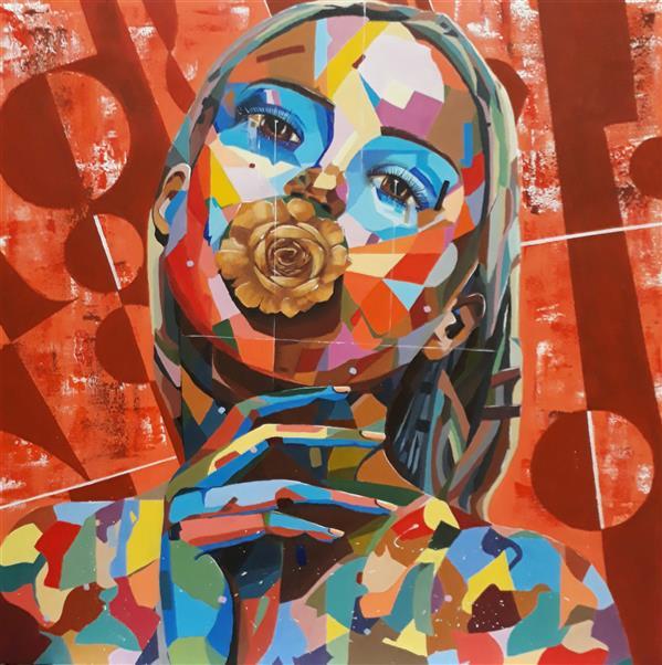 هنر نقاشی و گرافیک محفل نقاشی و گرافیک Ardagolkar نقاشی #مدرن  سایز ۸۰ در ۸۰ بدون قاب  رنگ #آکرلیک