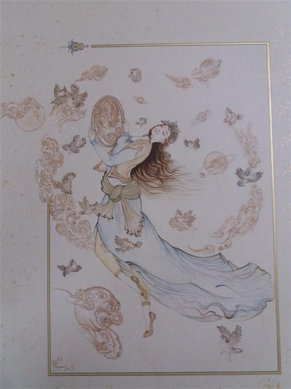 هنر نقاشی و گرافیک محفل نقاشی و گرافیک Zahra sedighi  #نگارگری#نقاشی_ایرانی متریال:گواش و آبرنگ زهرا صدیقی توستانی