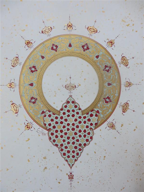 هنر نقاشی و گرافیک محفل نقاشی و گرافیک Zahra sedighi  #تذهیب#نقوش_هندسی#زرنگاری#شمسه#نقاشی_ایرانی سایز:۶۰×۵۲ با پاسپارتو و قاب زهرا صدیقی توستانی