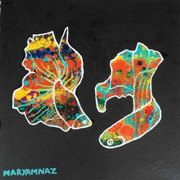 هنر نقاشی و گرافیک محفل نقاشی و گرافیک مریم ناز فلاحی سبک فلوید ارت تکنیک اکریلیک نام اثر هوای عاشقی