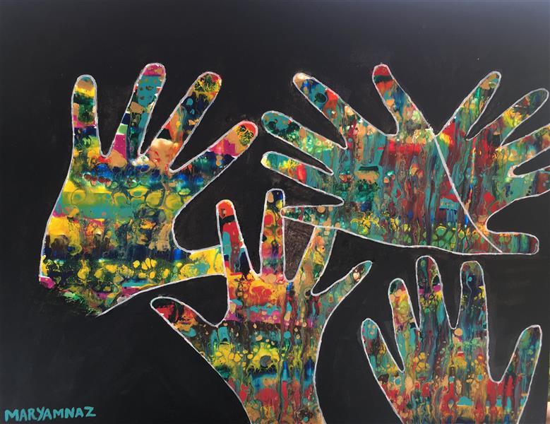 هنر نقاشی و گرافیک محفل نقاشی و گرافیک مریم ناز فلاحی سبک فلوید ارت تکنیک اکریلیک نام اثر : تضاد و همبستگی