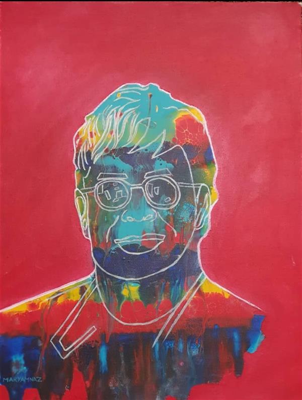 هنر نقاشی و گرافیک محفل نقاشی و گرافیک مریم ناز فلاحی تصویر التون جانز .اکریلیک روی بوم   ابعاد  cm ۳۰*۴۰