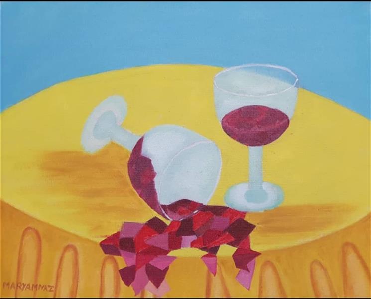 هنر نقاشی و گرافیک محفل نقاشی و گرافیک مریم ناز فلاحی رنگ روغن روی بوم ابعاد ۲۵*۳۰ cm