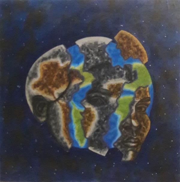 هنر نقاشی و گرافیک محفل نقاشی و گرافیک مریم ناز فلاحی تولد دوباره رنگ روغن سایز ۵۰*۵۰