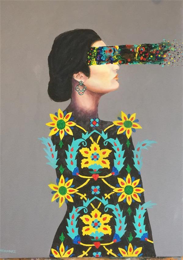 هنر نقاشی و گرافیک محفل نقاشی و گرافیک مریم ناز فلاحی  نام هنرمند مریم ناز فلاحی نام اثر   تراوش فکری تکنیک رنگ روغن اکریلیک سبک فلوید ارت و رئال سال ۹۹