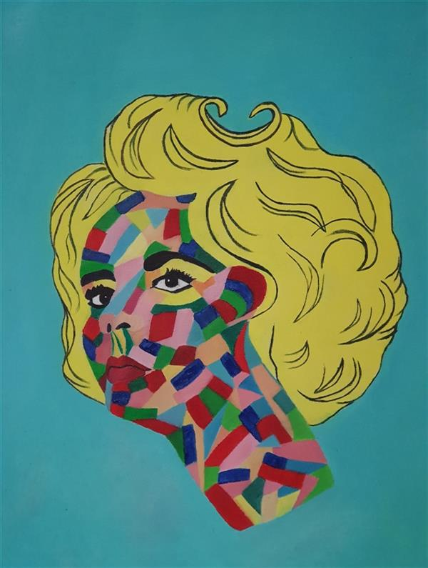 هنر نقاشی و گرافیک محفل نقاشی و گرافیک مریم ناز فلاحی تصویر الیزابت تیلور .رنگ روغن روی بوم ابعاد ۴۰*۳۰ cm
