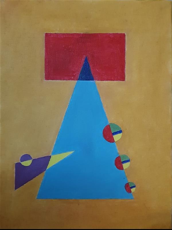 هنر نقاشی و گرافیک محفل نقاشی و گرافیک مریم ناز فلاحی رنگ روغن روی بوم ابعاد ۳۰*۲۵  cm