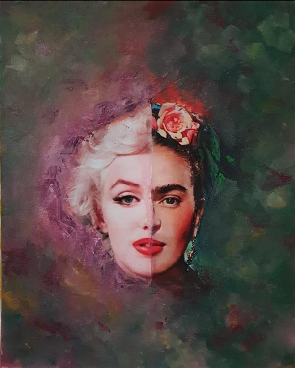 هنر نقاشی و گرافیک محفل نقاشی و گرافیک مریم ناز فلاحی کلاژ ابعاد ۳۰*۲۵. Cm