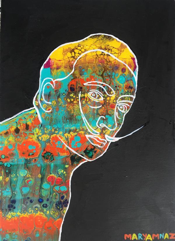 هنر نقاشی و گرافیک محفل نقاشی و گرافیک مریم ناز فلاحی سالوادور دالی تکنیک اکریلیک  سبک فلوید ارت