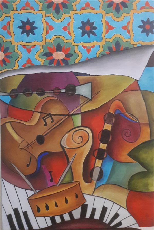هنر نقاشی و گرافیک محفل نقاشی و گرافیک مریم ناز فلاحی رنگ روغن روی بوم.  ابعاد ۶۰*۴۰