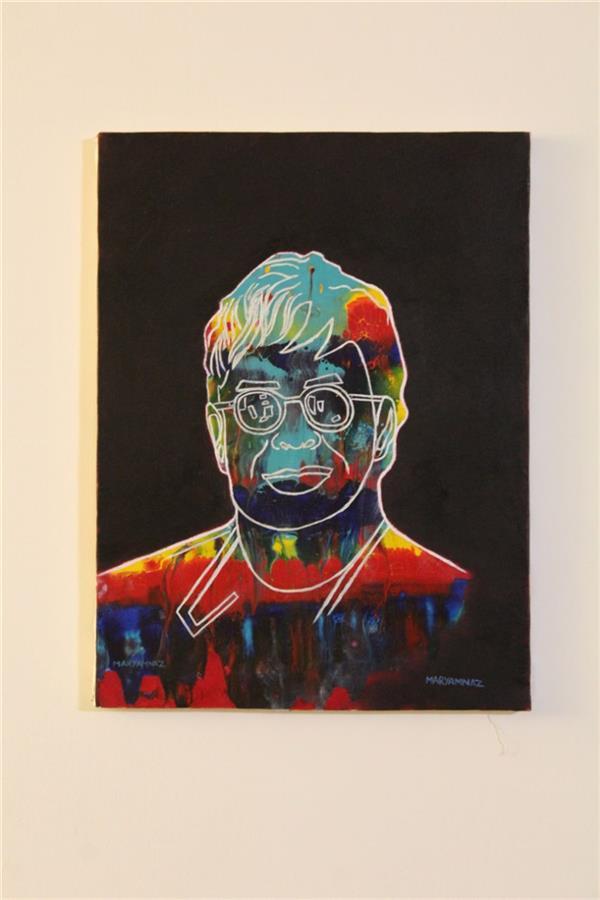 هنر نقاشی و گرافیک محفل نقاشی و گرافیک مریم ناز فلاحی التون جونز در رنگ و سبک های مختلف اکریلیک روی بوم  ابعاد ۳۰*۴۰.  cm