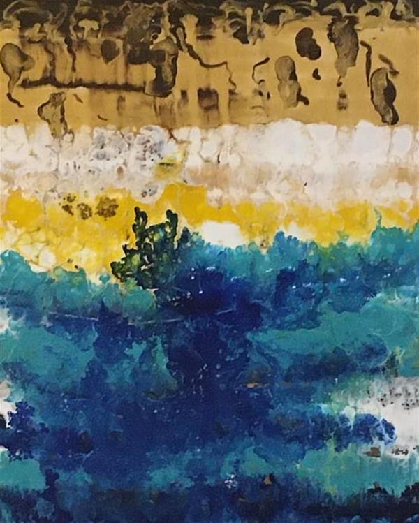 هنر نقاشی و گرافیک محفل نقاشی و گرافیک مریم ناز فلاحی اکریلیک  سبک فلوید ارت