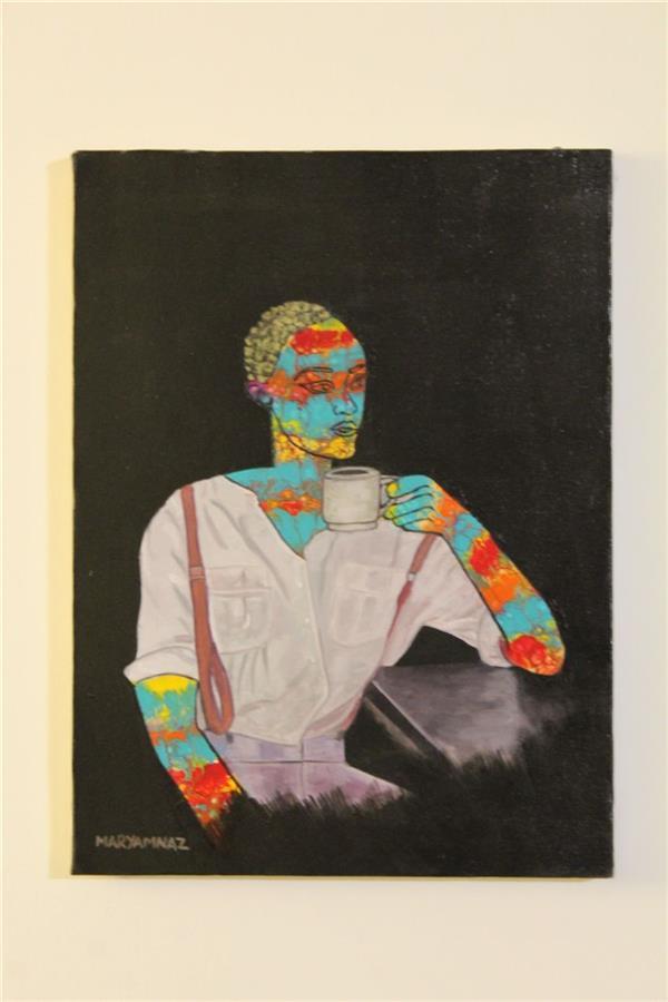 هنر نقاشی و گرافیک محفل نقاشی و گرافیک مریم ناز فلاحی افکار رنگی بانو اکریلیک روی بوم سایز ۳۰*۴۰ cm