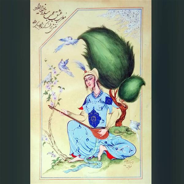 هنر نقاشی و گرافیک محفل نقاشی و گرافیک کوروش محمدی نژاد نوازنده ی سه تار گواش و آبرنگ کوروش محمدی نژاد 1397