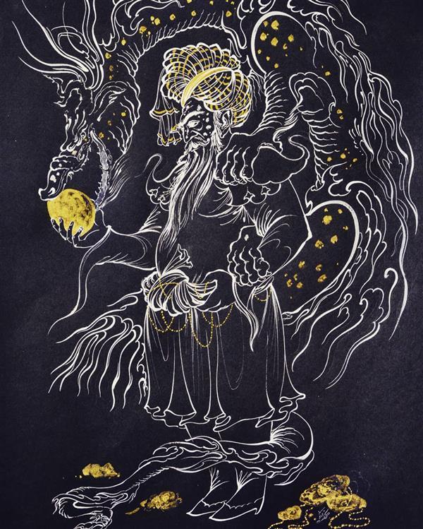 هنر نقاشی و گرافیک محفل نقاشی و گرافیک کوروش محمدی نژاد ثروت نگارگری تکنیک سپیدقلم با گواش کوروش محمدی نژاد 1397