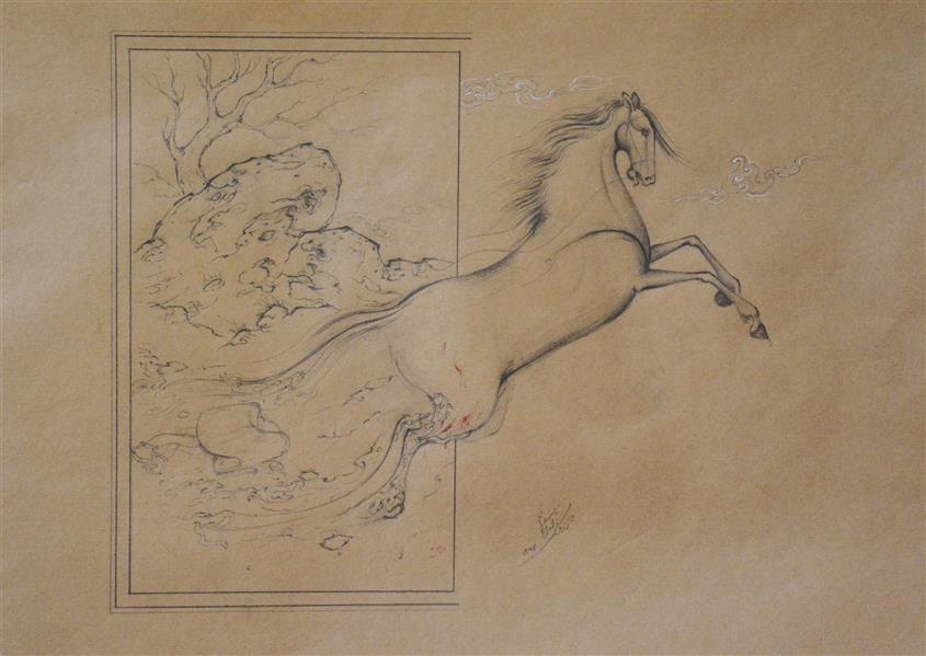 هنر نقاشی و گرافیک محفل نقاشی و گرافیک کوروش محمدی نژاد آزادی نگارگری مدادی کوروش محمدی نژاد 1397