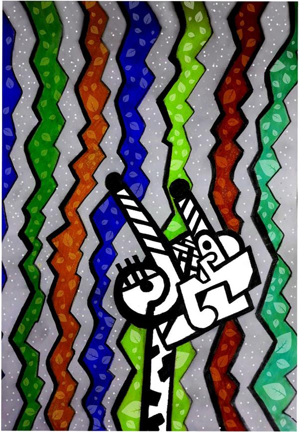 هنر نقاشی و گرافیک محفل نقاشی و گرافیک سحر صفاران ابعاد A3 تکنیک مداد رنگ و دیجیتال  مفهوم ۴فصل