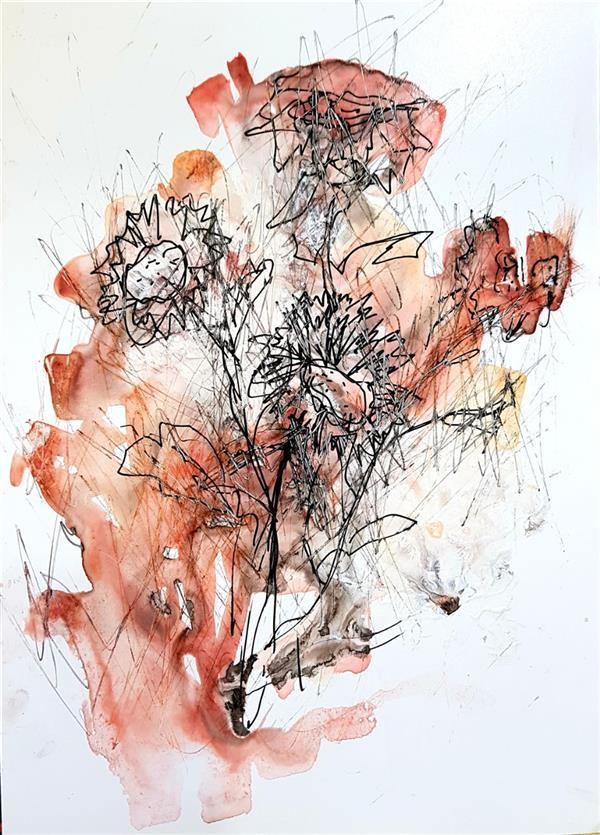 هنر نقاشی و گرافیک محفل نقاشی و گرافیک نسترن انوری سایز: ۱۵×۲۱ سانتی متر ترکیب مواد روی مقوا گلاسه