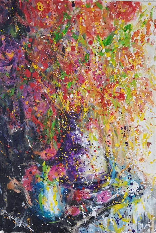 هنر نقاشی و گرافیک محفل نقاشی و گرافیک نسترن انوری اکرلیک روی مقوا سایز : ۵۰×۷۰ سانتی متر