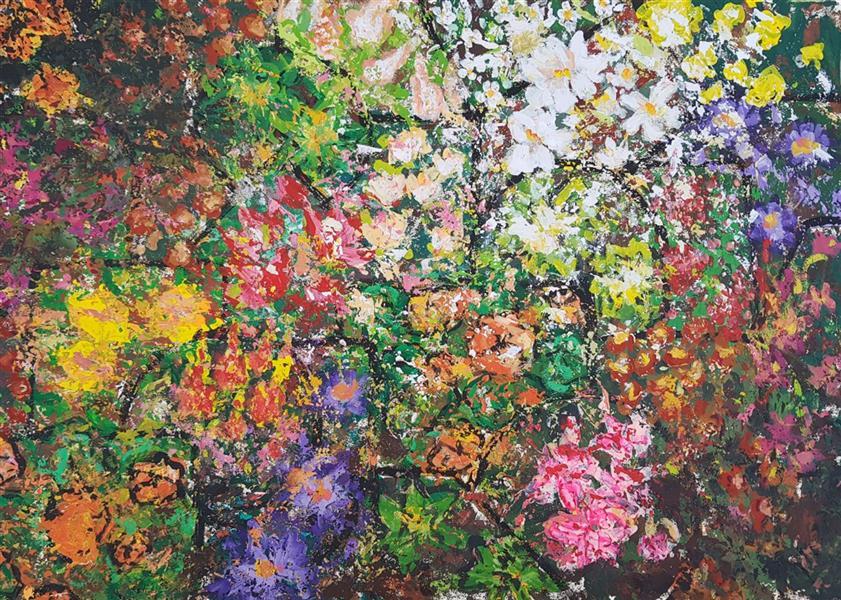 هنر نقاشی و گرافیک محفل نقاشی و گرافیک نسترن انوری اکرلیک روی مقوا سایز: ۳۵×۵۰ سانتی متر