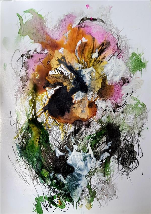 هنر نقاشی و گرافیک محفل نقاشی و گرافیک نسترن انوری سایز:  ۲۱×۱۵ سانتی متر تکنیک: ترکیب مواد روی مقوا گلاسه