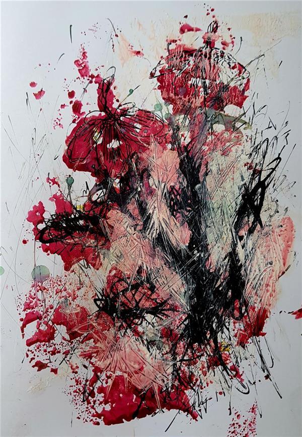 هنر نقاشی و گرافیک محفل نقاشی و گرافیک نسترن انوری سایز: ۲۵×۱۷ سانتی متر تکنیک: ترکیب مواد روی مقوا گلاسه