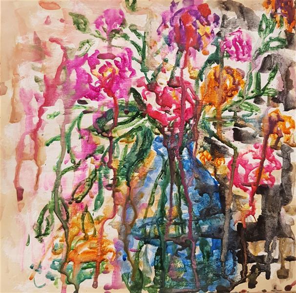 هنر نقاشی و گرافیک محفل نقاشی و گرافیک نسترن انوری ترکیب مواد روی مقوا سایز: ۲۹×۲۹ سانتی متر