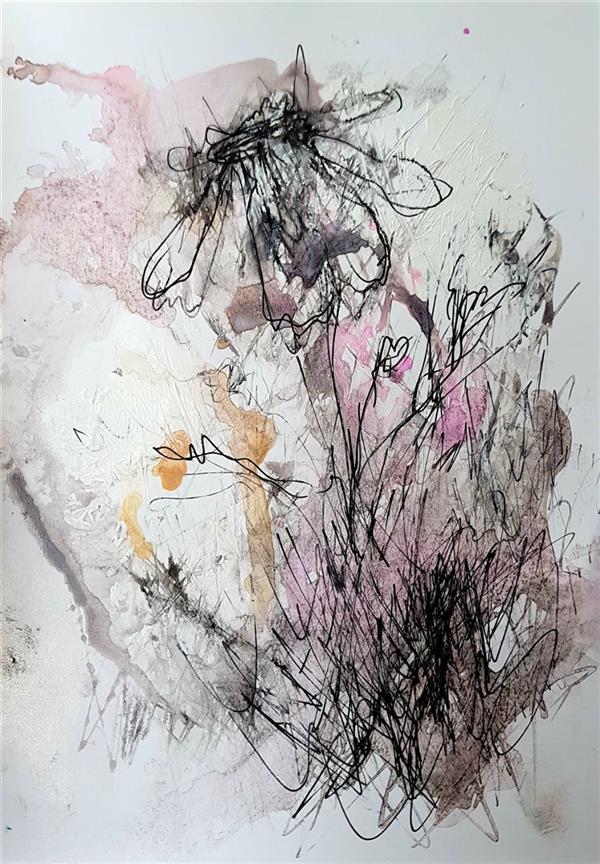 هنر نقاشی و گرافیک محفل نقاشی و گرافیک نسترن انوری سایز: 21×15سانتی متر تکنیک: ترکیب مواد روی مقوا گلاسه