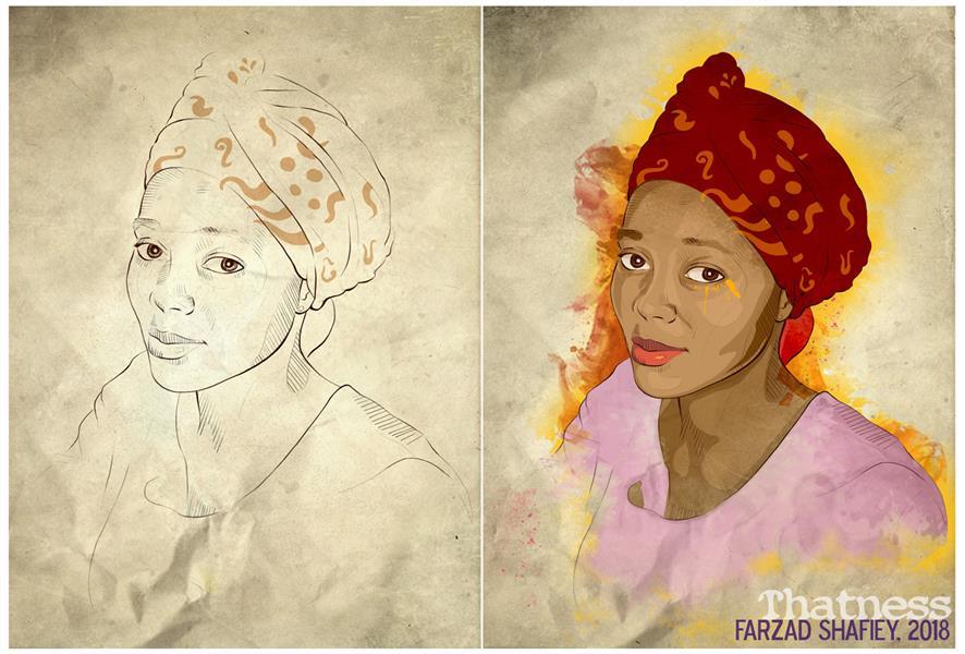 هنر نقاشی و گرافیک محفل نقاشی و گرافیک فرزاد شفیعی Nigerian Girl دختر نیجریه ای 2018 #دیجیتال #Thatness