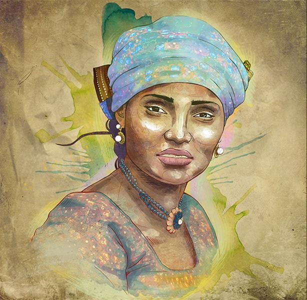 هنر نقاشی و گرافیک محفل نقاشی و گرافیک فرزاد شفیعی Hauwa Gombe  هنرمند آفریقایی (هاوا گمبی)  2018 #دیجیتال #Thatness