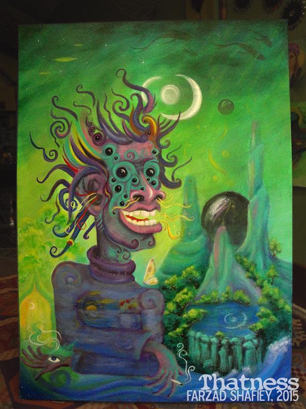 هنر نقاشی و گرافیک محفل نقاشی و گرافیک فرزاد شفیعی روشن مثل آب 2015 اکریلیک روی بوم 50*70 cm